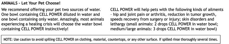 Cell Power for Animals