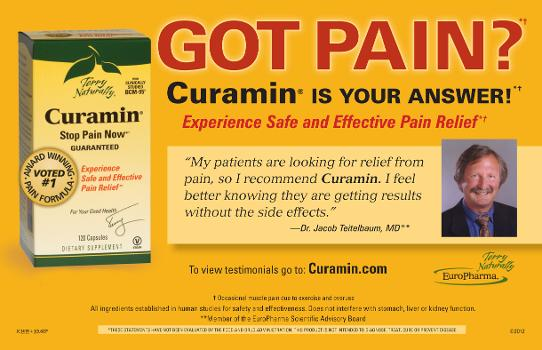 Got Pain? Curamin is the answer