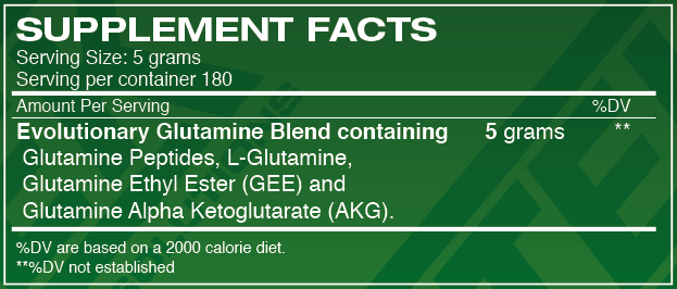 Glutamine Supplement Facts